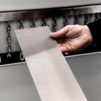 metal sheet finishing piece machine