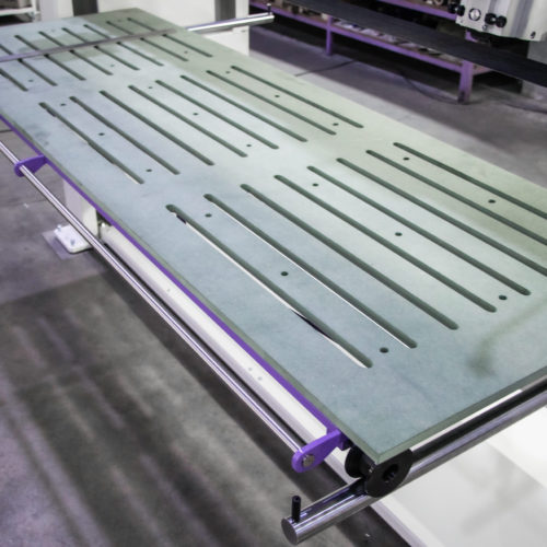 long belt finishing machine large surface finishing table