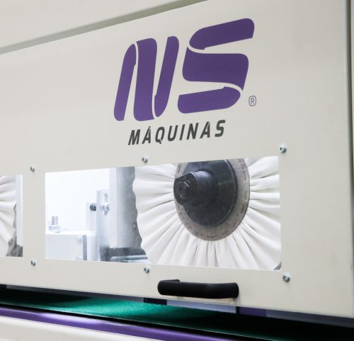 Buffing machine for stainless steel rectangular tubes